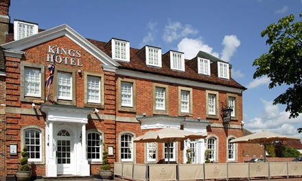 Oxfordshire: 1 or 2 Nights for Two with Breakfast, Dinner and VIP Card for Bicester Village at The Kings Hotel