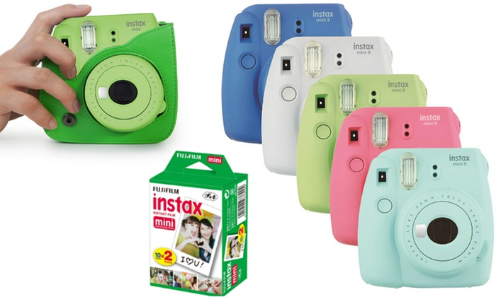 Groupon Direct - 485602: FujiFilm Instax Mini 9 Camera with Optional Bag or Bag and 20 Sheets from AED 299