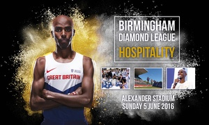 UK Athletics: Birmingham Diamond League Child or Adult VIP Package, Alexander Stadium, 5 June (25% Off)