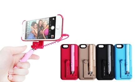 iphone 6 case with selfie stick groupon. Black Bedroom Furniture Sets. Home Design Ideas