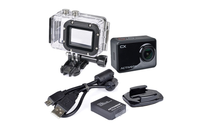 Activeon Cx Cca11w 1080p Full Hd Waterproof Action Camera Groupon