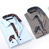 Coogi Luxe Men's Button-Down Shirts with Patterned Trim