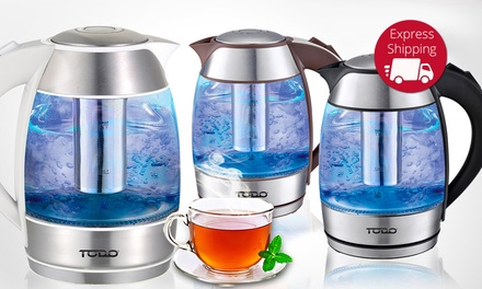 $29 for a Todo Health Model 1.8L Cordless LED Glass Kettle with Infuser Filter and 360° Rotating Base Don't Pay $149