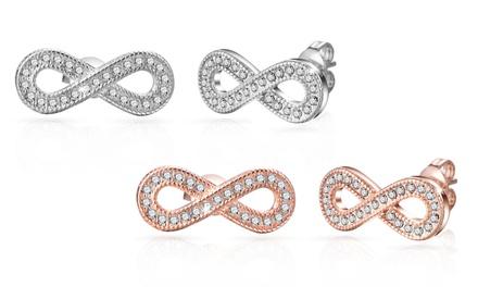1 ou 2 paires de boucles doreilles Infinity de la marque Philip Jones ornées de cristaux swarovski®
