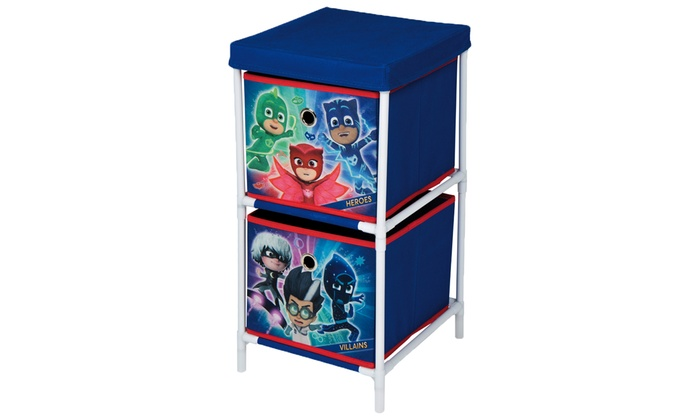 PJ Masks Children's Set of Table and Chairs and Two-Drawer Storage Chest