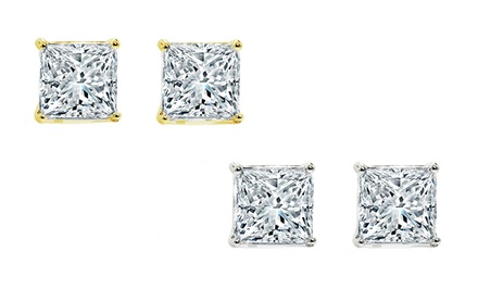 Two-Pair Set of Swarovski Elements Stud Earrings