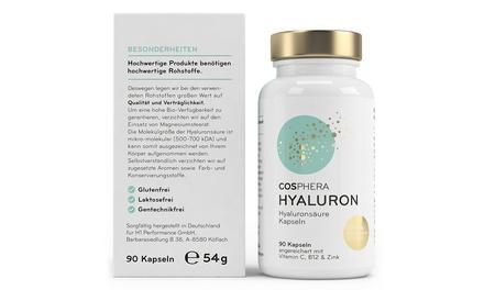 3-, 6- oder 9-monatige Kur Cosphera Hyaluronsäure-Kapseln 350 mgfür Haut, Anti-Aging und Gelenke (Hamburg)