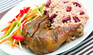 The Rasta House: Jamaican Food at The Rasta House (Up to 45% Off). Three Options Available.