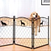 Metal Dog Silhouettes Pet Gate