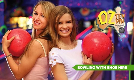 Bowling with Shoe Hire: One ($8) or Two Games ($15) at OZ Tenpin Bowling, Eight Locations (Up to $33.80 Value)