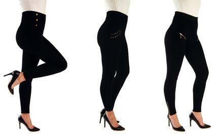 Lot de 3 leggings gainants Hollywood Pants, silhouette zéro défaut
