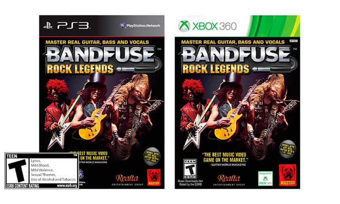 bandfuse rock legends for ps3 or xbox 360 free returns BandFuse Audio Adapter
