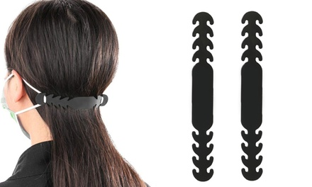 Pack of Two, Four or Eight Silicone Hooks for Face Mask
