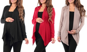 Women's Maternity Hacci Cardigan (3-Pack)