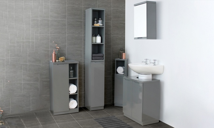 Glacius Bathroom Cabinets Range Groupon