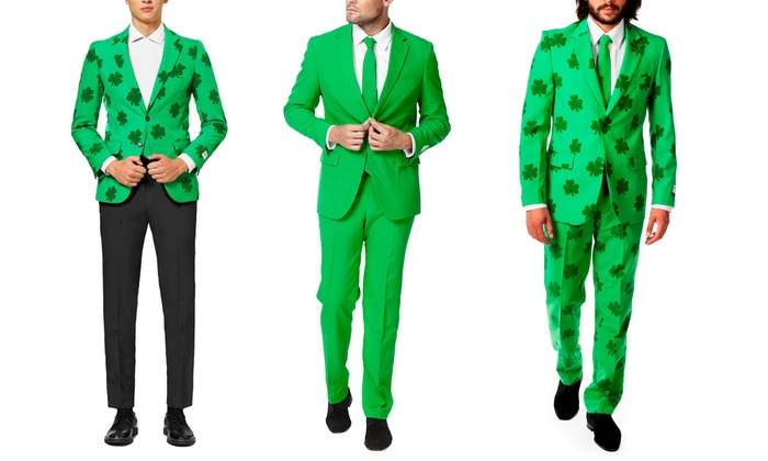 9053ca58f09b77 OppoSuits Men's St. Patrick's Day Slim-Fit Suits or Blazers | Groupon