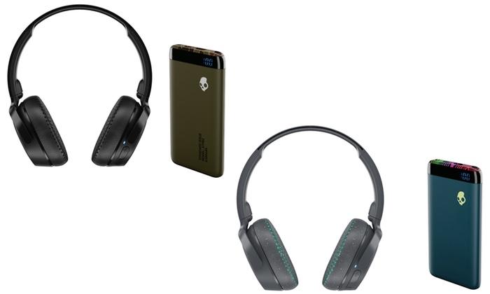 Up To 55 Off On Headphones Power Bank Bundle Groupon Goods