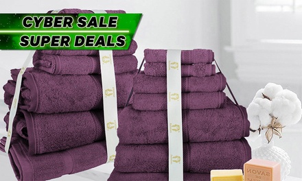 Extra Large 100% Egyptian Cotton  Bath Sheet Set: 7-Piece Set ($39) or 14-Piece Set ($69) (Don't Pay up to $218)