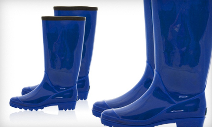 BootsiTootsi Blue Rain Boots: $24 for a Pair of BootsiTootsi Blue Rain Boots ($48 List Price). Five Sizes Available. Free Shipping.