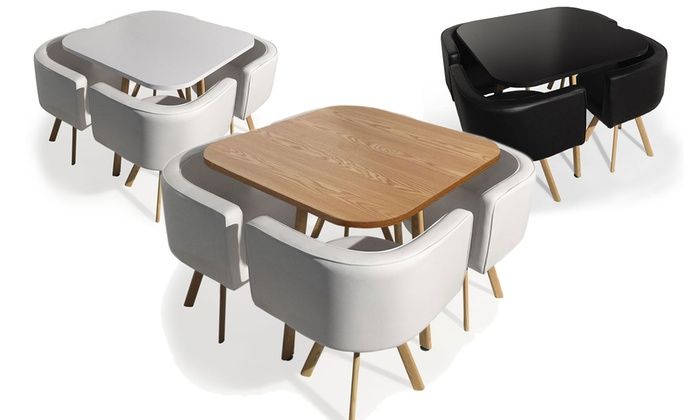 Table et chaises encastrables groupon shopping for Table avec chaise encastrable