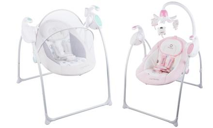 Balanción para bebés Lionelo con mosquitera y caja de música