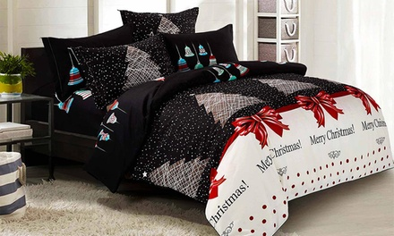 for a Merry ChristmasThemed Quilt Cover Set