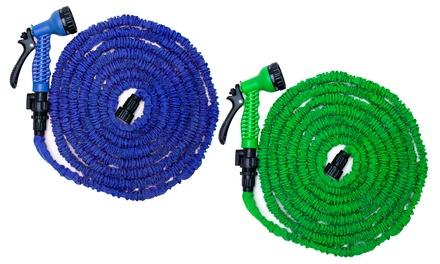 Tubo allungabile da giardino con diffusore multispruzzo disponibile in varie lunghezze