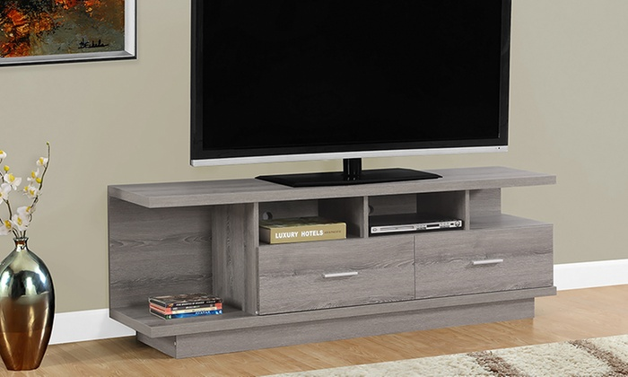 Contemporary Elegant Tv Stand Groupon Goods