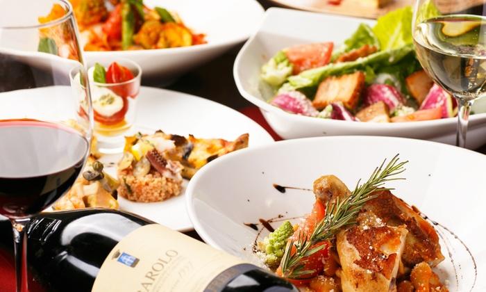 Bistro Chasseur - 仙台市青葉区: 49%OFF【1,700円】7月OPEN。フランスの家庭料理を、ご友人と一緒に≪前菜6種・ひな鳥のロースト・4種のチーズの濃厚リゾットなど11品+ドリンク1杯≫ @Bistro Chasseur