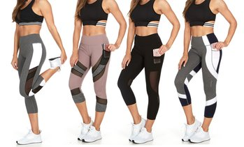 Clearance: RAG Women's Active Leggings, Capris, and Shorts Set (3-Pc.)