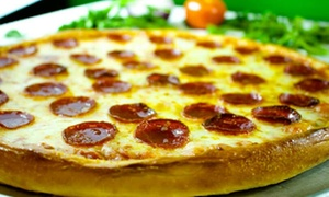 Grand Pizza Restaurant: Italian Cuisine, or One or Two-Pizza Package at Grand Pizza Restaurant (Up to 57% Off). Three Options Available.