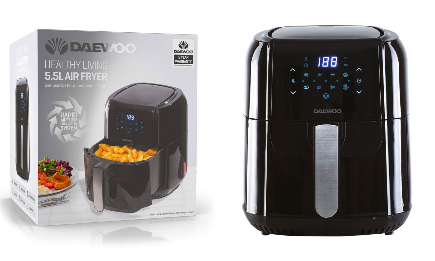 Daewoo 5.5L 1400W Digital Air Fryer