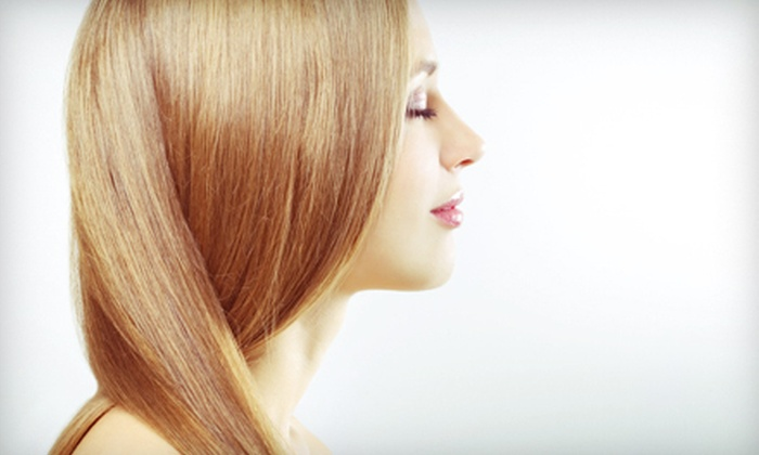 Elie Esper Salon - Ridgefield: Wash, Haircut, and Style with Optional Single-Process Color or Partial Highlights at Elie Esper Salon (Up to 63% Off)