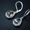 Peermont 4.15 CTTW Pear-Cut Topaz and Diamond Drop Earrings