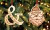 Cabany Co: Choix entre 20 pendentifs personnalisés en bois pour arbre de Noël ou en cadeau