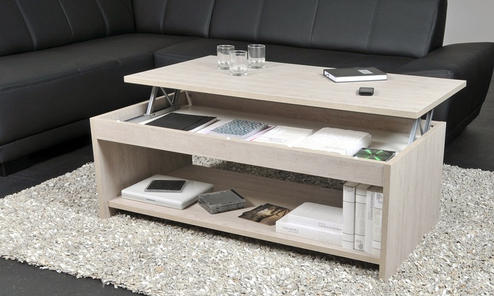 table basse relevable oregon groupon shopping. Black Bedroom Furniture Sets. Home Design Ideas