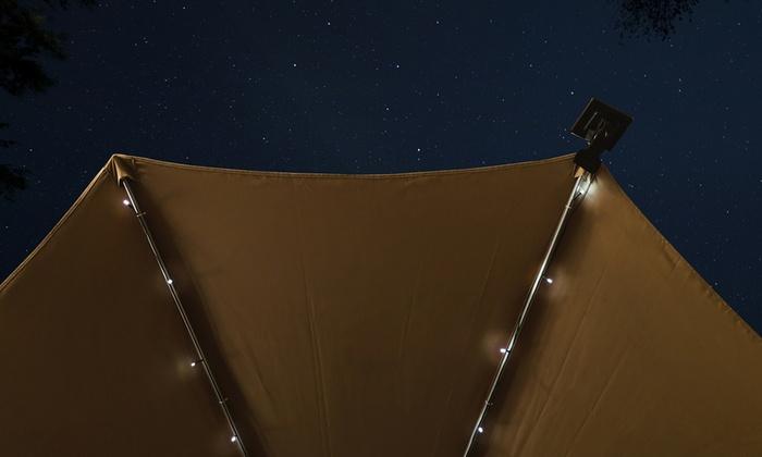 String Lights Under Umbrella : Solar Patio Umbrella LED String Lights (1-, 2-, or 3-Pack) LivingSocial