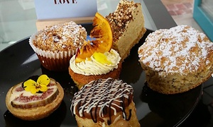 Light Bulb Cafe: Dessert Tasting Plate + Tea or Coffee for Two ($25) or Four People ($49) at Light Bulb Café, Goodwood (Up to $94 Value)