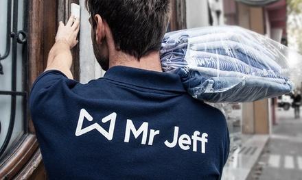 Elige plan de suscripción de 1 o 3 meses al servicio de lavandería y planchado a domicilio de Mr Jeff desde 0 €