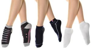 Angelina Women's Cotton Low-Cut Socks (12-Pack)
