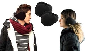2 Pack: Unisex Fleece Behind the Neck Ear Muffs