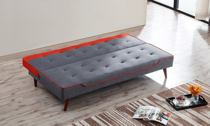 Chicago Upholstered Sofa Bed Groupon Goods