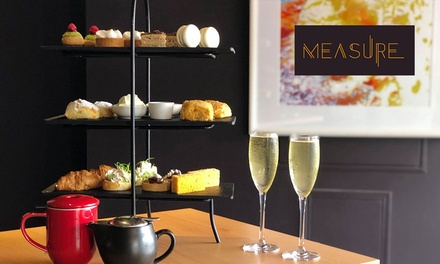 High Tea with Prosecco for One ($28), Two ($55), Four ($110) or Six People ($165) at Measure Bar (Up to $240 Value)