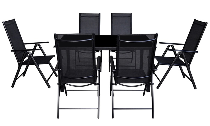 ensemble salle manger ext rieur groupon. Black Bedroom Furniture Sets. Home Design Ideas