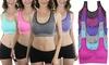 Women's Padded Space Dye Sports Bras (6-Pack): Women's Padded Space Dye Sports Bras (6-Pack)