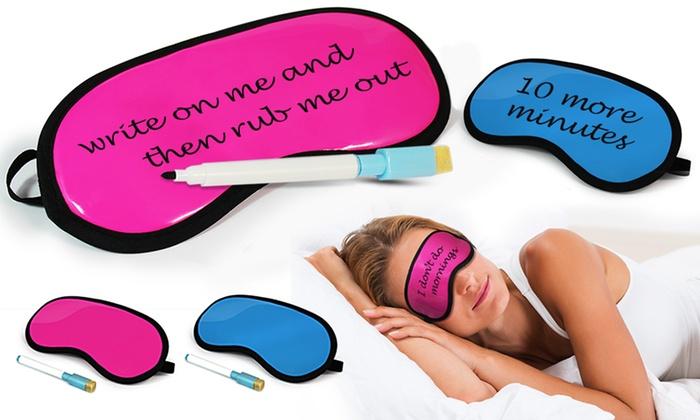 Diy Sleep Mask With Pen Groupon Goods