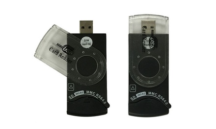 Universal USB 2.0 14-in-1 SIM and SD Card Reader