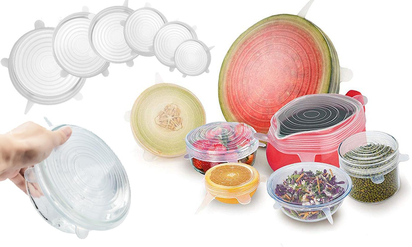 Up to 48 Reusable Silicone Food Lids (£4.99)