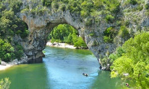 Ardèche: Mobil-home/Bungalow toilé avec descente de l'Ardèche en canoë Vallon Pont D'Arc
