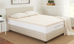 "Sleep Studio CopperFresh 2"" Gel Memory Foam Mattress Topper"